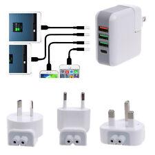 25W Quick Charge 3.0 USB+1 Type-C Hub Wall Charger Adapter EU US AU UK Plug Kit