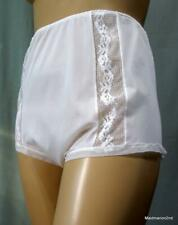 VINTAGE SILKY SHEER CREAM NYLON PANTIES KNICKERS - LACE TRIM - Lg