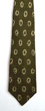 Men's New Silk Neck Tie, Classic, Dark Green oval design by Domenico Franco