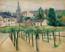 Village Square by Paul Cézanne 60cm x 48cm Art Paper Print