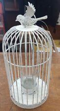 Tobs White Metal Bird Cage - NEW