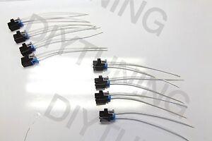 Delphi Mini Fuel Injector Connectors Plugs Clips Pigtails Harness QTY-8 Multec
