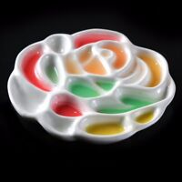 Ceramic Paint Mixing Palette For Oil Acrylic Watercolor  Rose Shaped