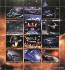 STAR TREK DEEP SPACE NINE STAMPS SHEET 2001 NEXT GENERATION FAUX ISSUE SCI-FI