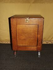 ANTIQUE WOOD DOVETAIL 1892 WELLS MINISTERS CABINET CASE SYRACUSE NY