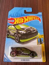Hot Wheels Diecast - '12 Ford Fiesta PAWN (Black/Lime) NEW