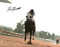 Ron Turcotte 1973 Belmont Stakes Secretariat Signed 11X14 Color Photo PSA/DNA