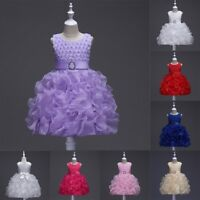 Flower Girl Baby Toddler Princess Dress Wedding Party Pageant Fancy Tutu Dress