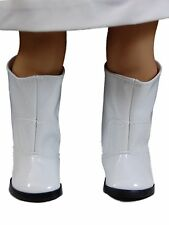 COLLECTIBLE DOLL SHOES FOR 18 Inch American Girl Clothing White GoGo HIgh Boots