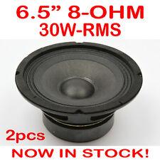 "2x 6.5"" 30WRMS 8 Ohms PA DJ Speaker Subwoofer Woofer Sub Driver 6.5 Inch Quality"