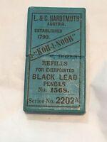 Vintage Hardtmuth Koh I Noor Propelling Pencil Lead Refills In Box Case No 1568