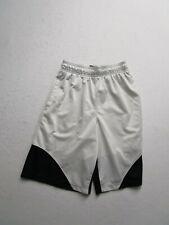 Under Armour Boys Youth M White Athletic Shorts Casual Sports Elastic Waist Logo