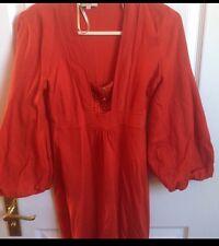 Bright Orange Karen Millen Knitted Dress Size 2/ Uk 10