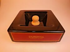 New ListingDunhill Advertisement Ceramic Ashtray for Pipe, Cigar, Cigarette w/Cork Knocker
