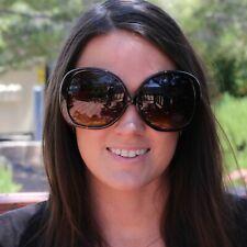 Round Sunglasses Big Oversized XXL Large Huge Glasses Women Frame Retro Black