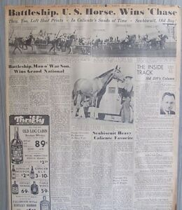 Seabiscuit George Woolf  Build up to the Agua Caliente Mexico March 25 1938 B2