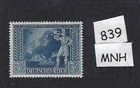 MNH Germany stamp / Third Reich WWII / 1942 Postal Congress Vienna Austria / MNH