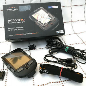 Satmap Active 10, with lanyard, cables, UK map