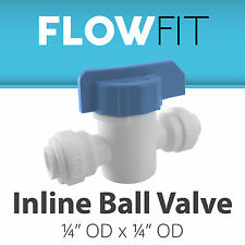 """Express Water 1/4"""" Straight Inline Ball Valve Quick Connect Parts Water Fil"""