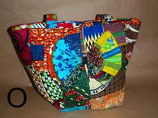 Shopper Einkaufstasche - Patchwork bunt - aus Ghana Afrika, NEU - (O)