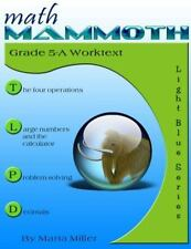 Math Mammoth Grade 5-A Worktext by Maria Miller (2015, Paperback)