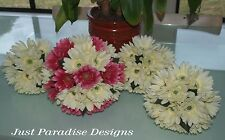 Artificial Wedding Bouquet Set - Gerbera Flower - 1 x Bride 3 x Maids FREE POST