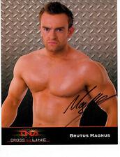 BRUTUS MAGNUS SIGNED AUTO 8x10 OFFICIAL PROMO PHOTO IMPACT TNA WRESTLING