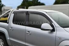 To Fit 06 - 12 Ford Ranger Smoke Tinted Window Wind Rain Deflectors - Adhesive