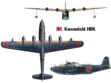Kawanishi H8K Emily 1/72 Airplane Desktop Wood Model