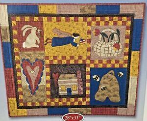 Quilt Kit~Folk Art Sampler~NIP~Designer Wall Quilt~Collection~Patchwork~Applique