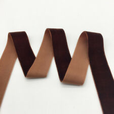 """3 yards 1""""(25mm)Wide Brown Velvet Ribbon Headband Clips Bow Decoration"""