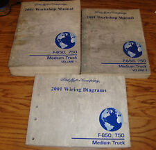 2001 Ford F-650 F-750 Medium Truck Shop Service Manual 1 & 2 + Wiring Diagrams