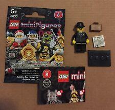 LEGO 8833 Minifigures Series 8 Businessman w/ Wrapper Checklist 2012 New USA!