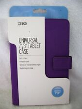 "Purple Tablet Case Magnetic Clasp Built in Stand 7-8"" Universal Ipad Kindle Asus"