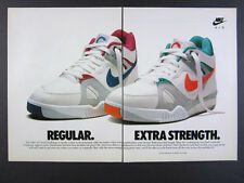 1989 Nike Air Tech Challenge Tennis Shoes berry neon photo vintage print Ad