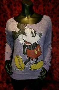 LARGE Disney's Mickey Mouse Lightweight Sweatshirt Punk Rock Retro Cute