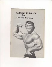 Arnold Strong Schwarzenegger MASSIVE ARMS Original muscle bodybuilding booklet