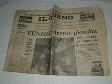 VENEZIA TRENO PIOMBA NELLA CUCINA DEL RISTORANTE TRE MORTI -IL GIORNO 29/9/1962