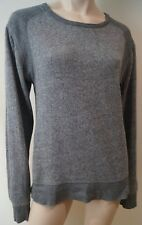 T Alexander Wang Femmes Gris & Anthracite Col Rond Manche Longue Pull Top L