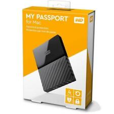 WD My Passport 4TB Portable External USB 3.0 Hard Drive for Mac, Black