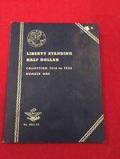 Whitman 9021:35 Liberty Standing Half Dollar Coin Folder 1916-1936