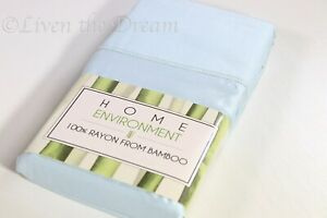 Home Environment 100% Silky Soft & Cool Rayon from Bamboo Blue Pillowcases KING