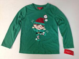Family Pajamas Elfing Around Pajama Top, Green, Size 8