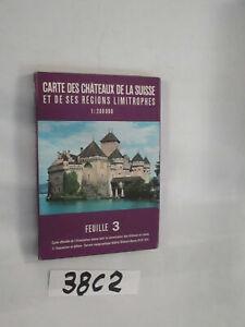 CARTE DES CHATEAUX DE LA SUISSE (38C2)