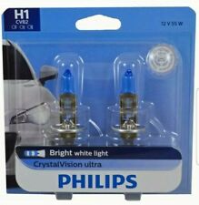 Headlight Bulb-CrystalVision Ultra - Twin Blister Pack Philips H1CVB2