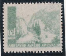 Kroatien 1941 Michel Nr. 51 mit Maschinen Abklatsch sauber Gestempelt