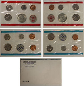 1970 Uncirculated Mint Set w Key Date Denver Silver Kennedy Half Dollar Bright!!