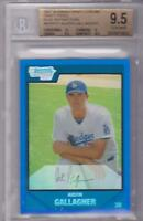 AUSTIN GALLAGHER 2007 BOWMAN CHROME DRAFT PICKS BLUE REFRACTOR #078/199 BGS 9.5