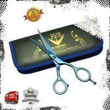 6.0'' Professional Barber Hairdressing Scissors Salon Hair cutting Shears Blue T