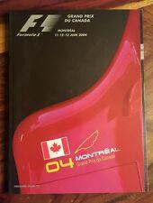 Formula 1 Grand prix Canada 2004 official program